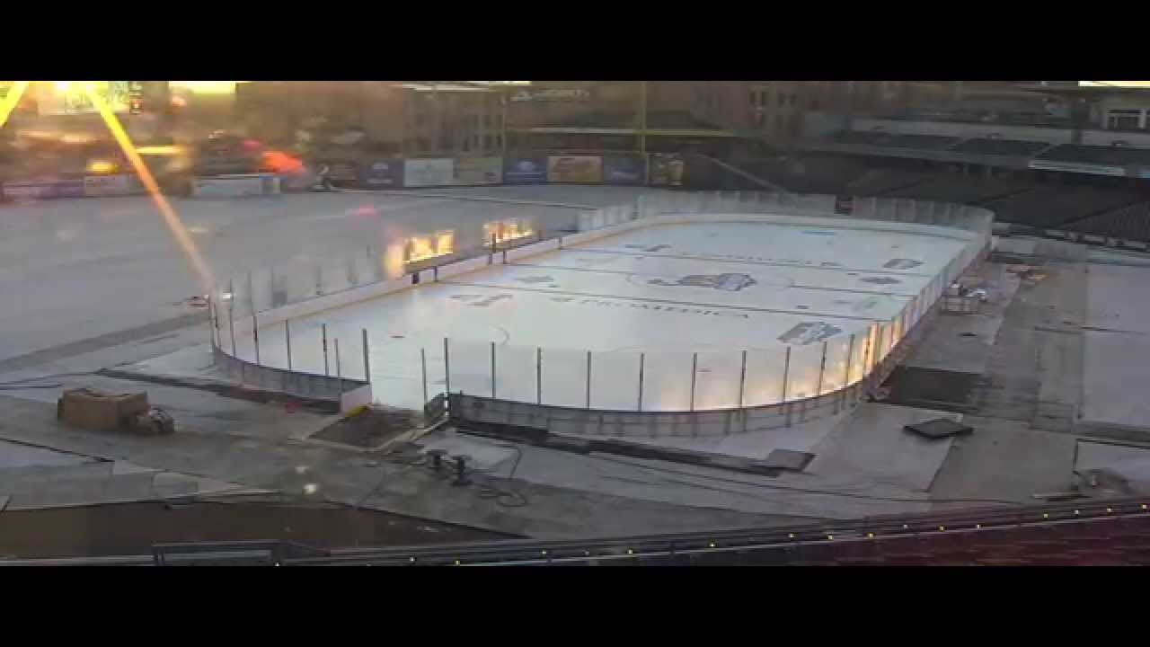 Winterfest Outdoor Rink Construction Time Lapse (12/2014 ...