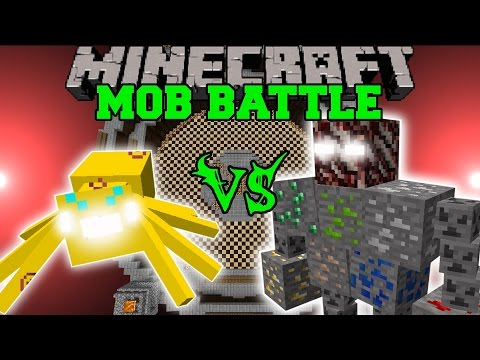 THUNDER SPIDER VS ORE BOSS - Minecraft Mob Battles - Mods
