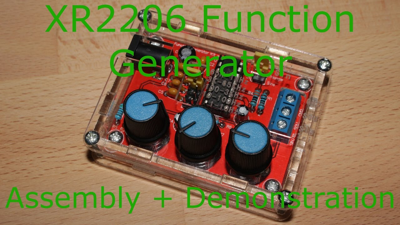 Xr2206 Function Generator Assembly   Demo