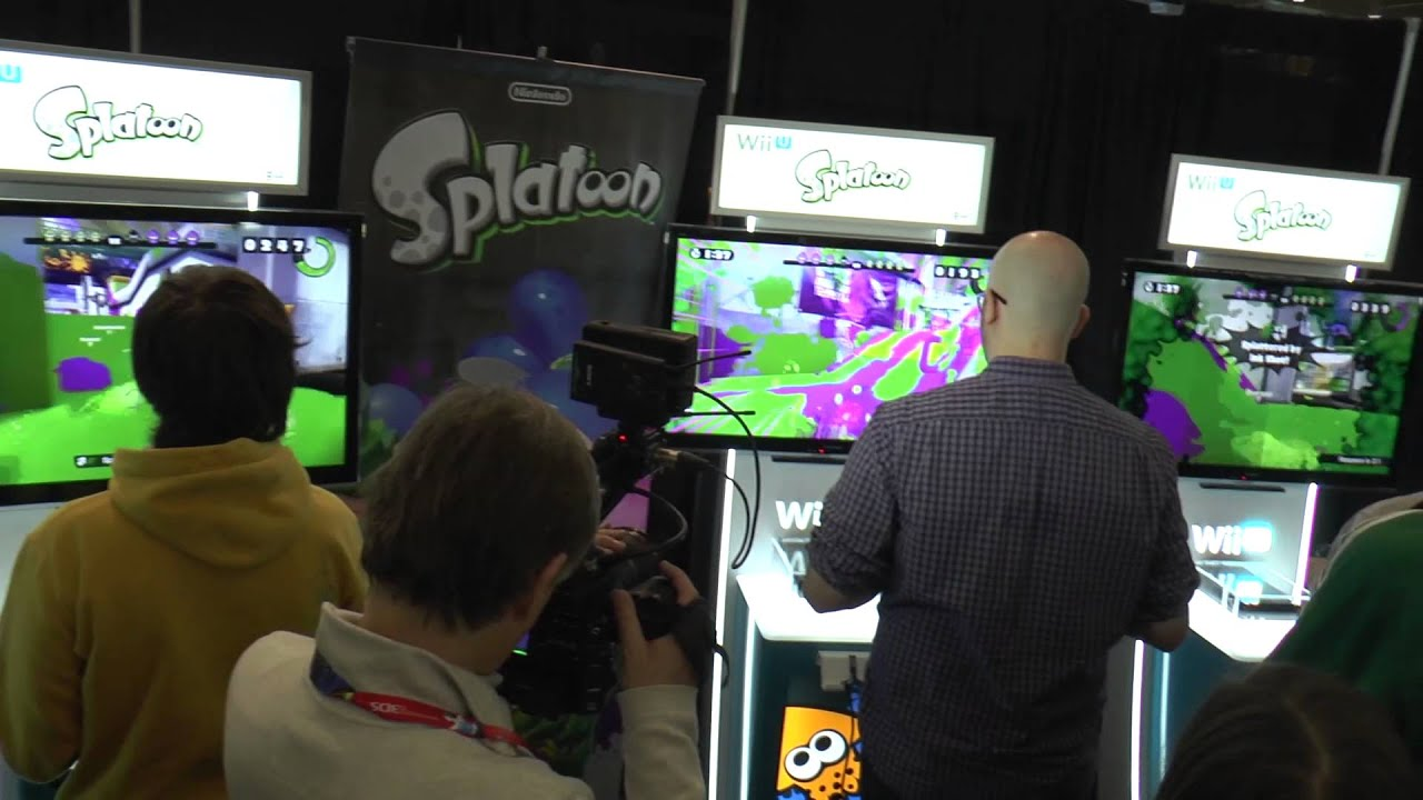 Nintendo booth at PAX East 2015 - Includes footage of Splatoon
