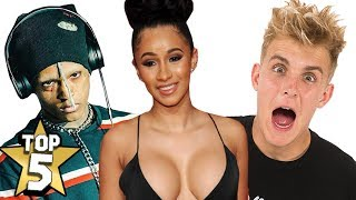 TOP 5 MOST FAMOUS PEOPLE OF 2017 | ( XXXTentacion, Cardi B, Jake Paul )