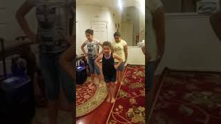 Our First Cheerleading Routine