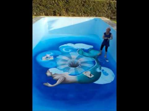 3d Painting! - Swimming pool 3d mural ! - 'A Hole In The Water' by Gio Trypsiani Artworks