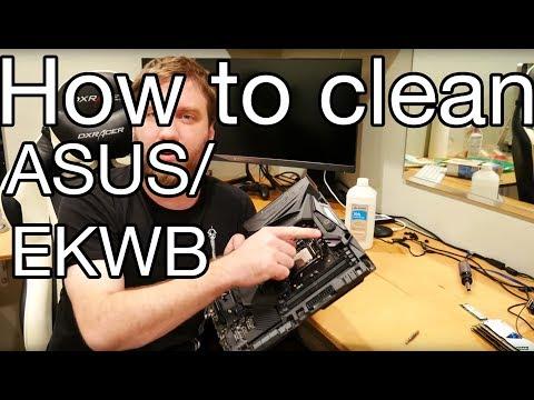 How to remove and clean Asus Maximus Formula IX CrossChill EK II waterblocks.