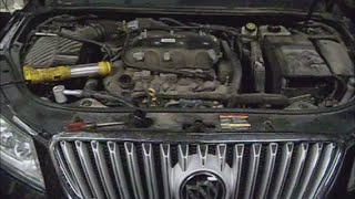 Buick lacross 2010 w 3.6 l pt.1 coolant loss, water pump removal