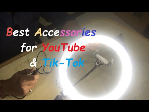 tiktok YouTube Video Shooting- Marklif 10 Inches Big LED Ring Light for Camera and Makeup Ring Light