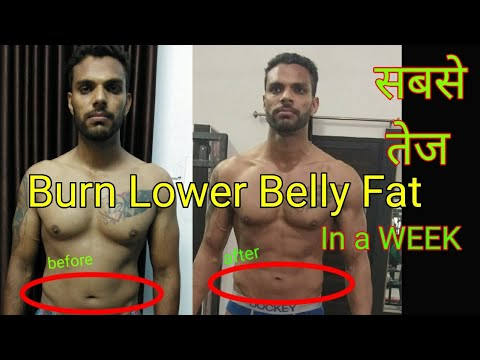 how to burn lower belly fat in a week