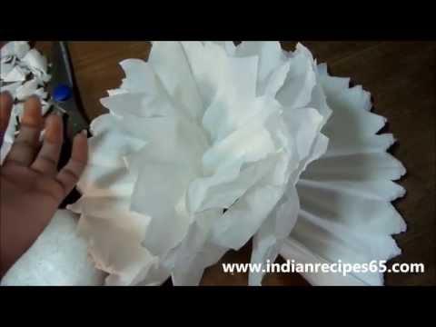 How To Make Tissue Paper Pom Poms / DIY Paper Poms