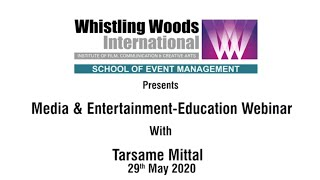 The Art of Artist Management with Tarsame Mittal | Whistling Woods International