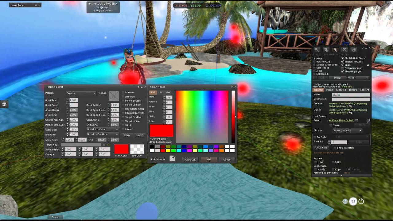 ♥♥♥ How to particle script in Second Life the easy way ♥♥♥