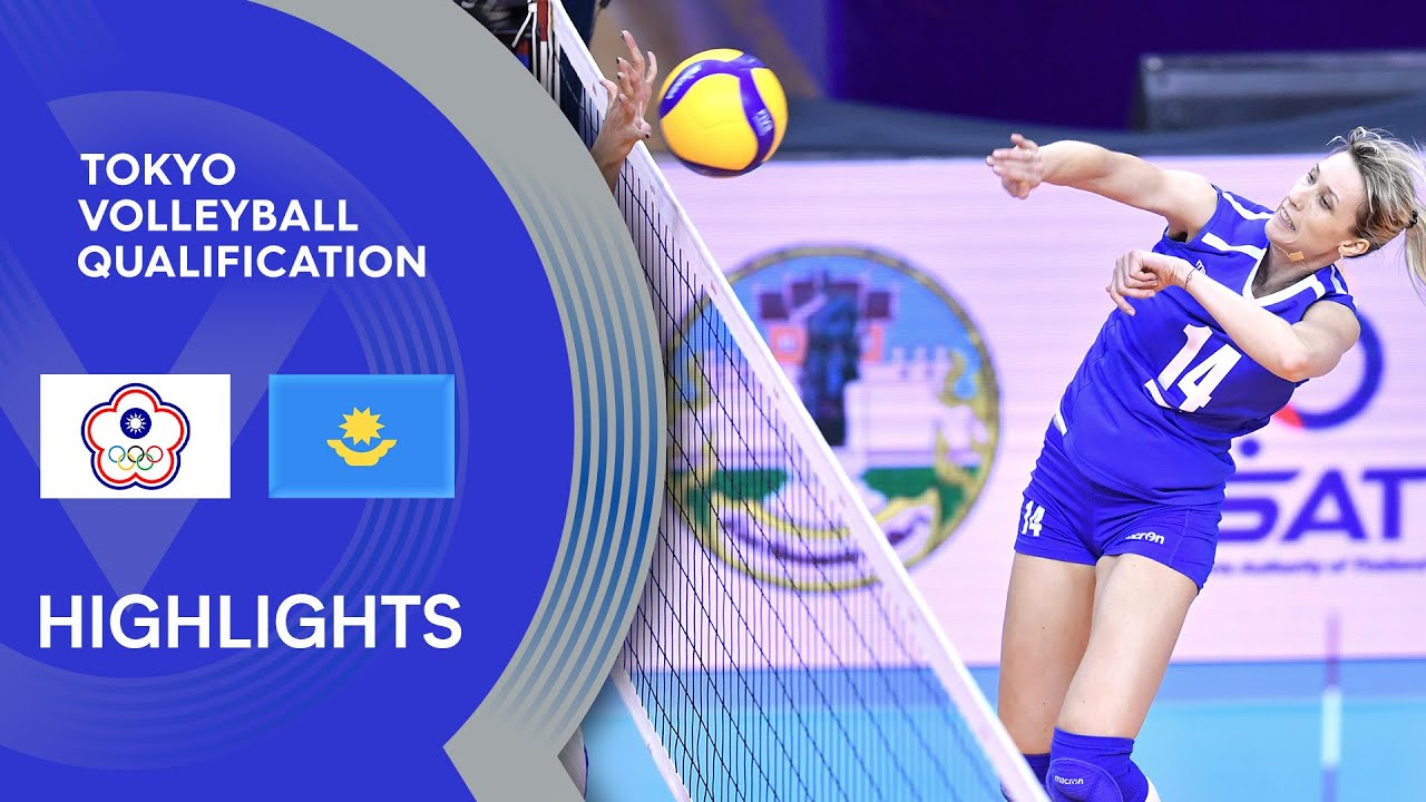 Chinese Taipei vs. Kazakhstan - Highlights | AVC Women's Tokyo Volleyball Qualification 2020