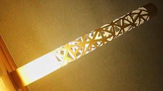 эФФЕКТНЫЙ светильник из ПВХ трубы! Как сделать светильник из трубы ПВХ?