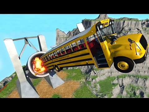 FIRING CARS OFF GIANT CLIFF! Crash Testing on Leap of Death!