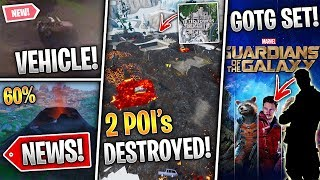 POI's Destroyed, New Vehicle, Guardians Of The Galaxy SKINS, 3rd Rune & Season 9! (Fortnite News)