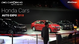 Honda Latest Cars at Auto Expo 2018 | Amaze, CR-V, Civic