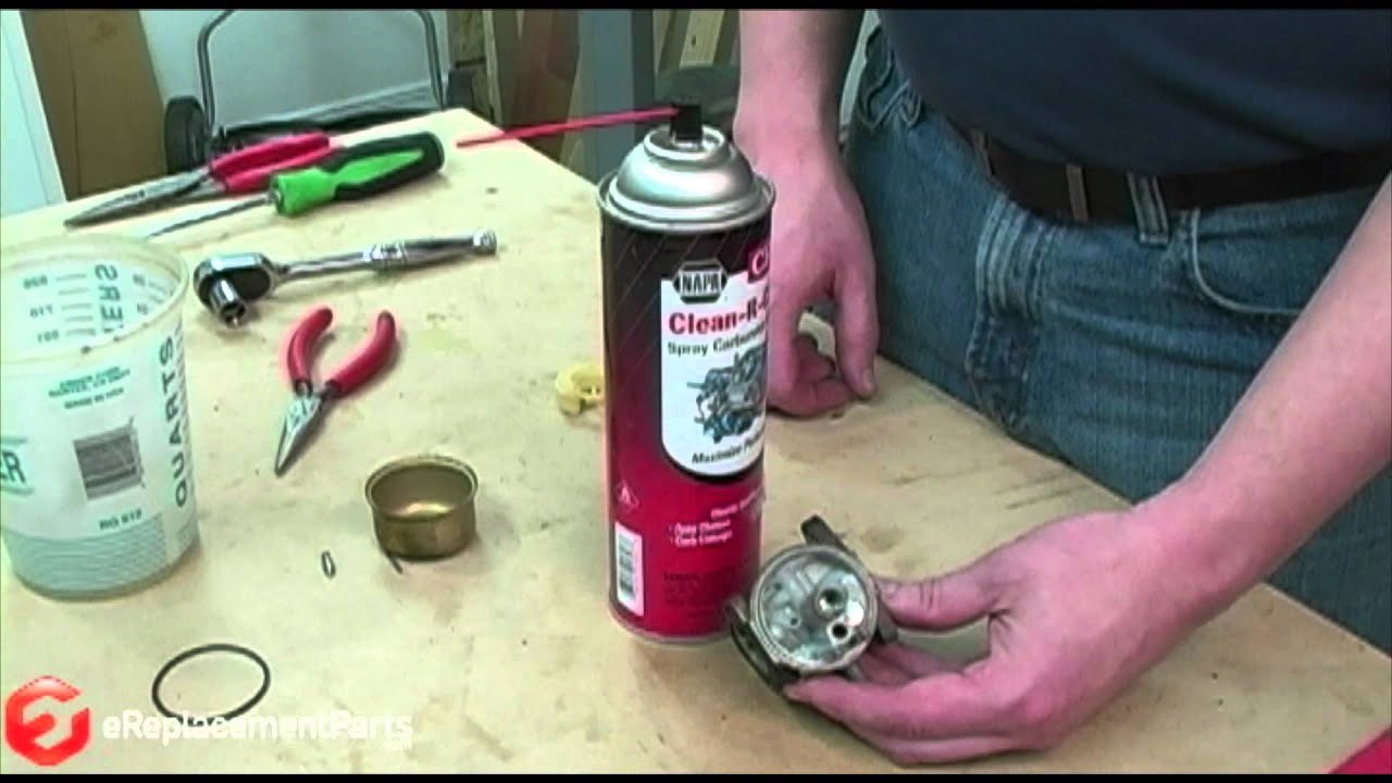 How to Clean a 4Cycle Engine Carburetor  YouTube