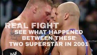WWE BACKSTAGE REAL FIGHTS PART - 03 BROCK LESNAR VS KURT ANGLE