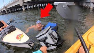 His Kayak SANK paddling to a Deserted Island!
