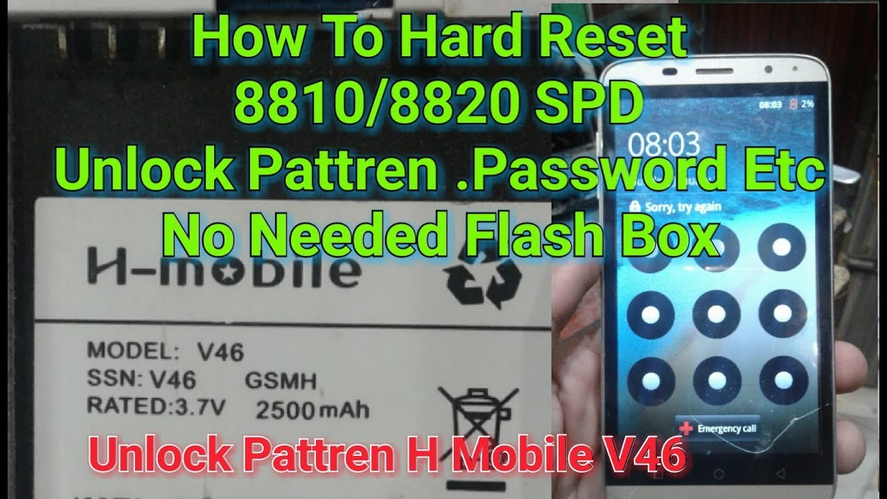 How To Hard Reset 8810/8820 SPD Tested By H Mobile V46 100% Done