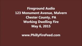 5-6-15, 123 Monument Ave, Malvern, Chester County, PA, House Fire
