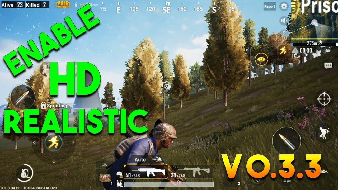 HOW TO ENABLE HD REALISTIC SETTINGS V0.3.3 (PUBG MOBILE