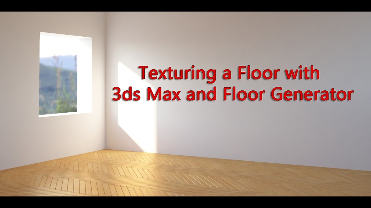 Texturing a Floor with 3DS Max and Floor Generator - YouTube