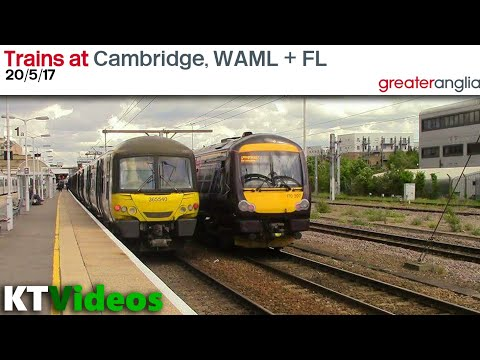 Trains at Cambridge, WAML + FL - 20/5/17