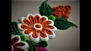 Super Easy Flower Border Rangoli Designs| Kolam by Shital Mahajan