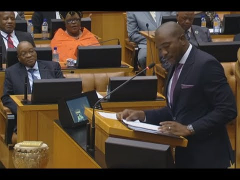 Mmusi Maimane exposes the ANC while Zuma watches