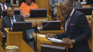 Mmusi Maimane exposes the ANC while Zuma watches