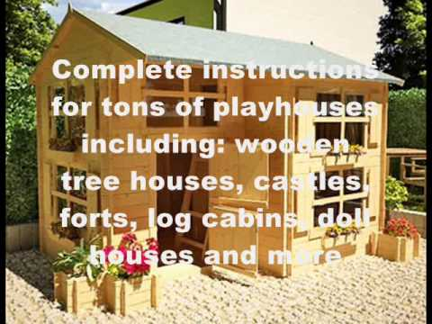 How to build a playhouse out of wood wooden playhouse for How to make a playhouse out of wood