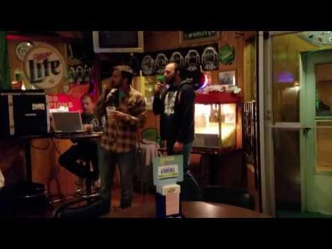Todd and Heath do karaoke