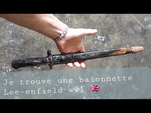 Militaria Baïonnette Lee Enfield Ww1 ,  French River ....