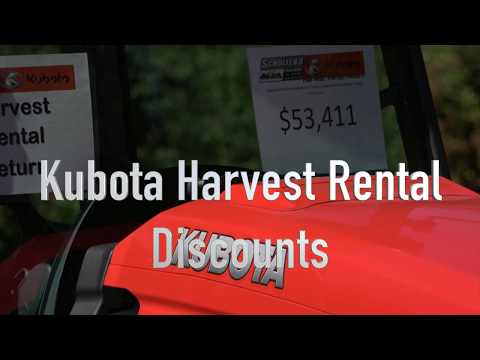 Kubota Harvest Rental Selection