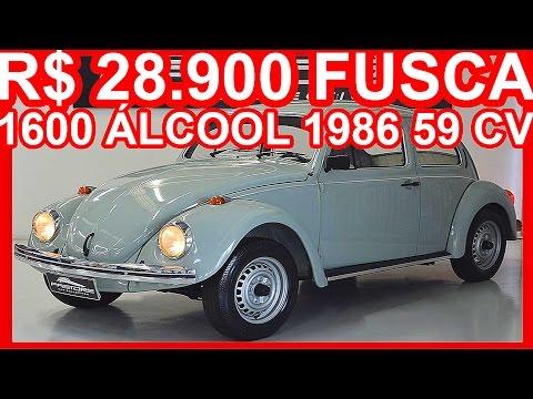 PASTORE R$ 28.900 Volkswagen Fusca 1600 Álcool 1986 Cinza MT4 RWD 59 cv 125 kmh #FUSCA