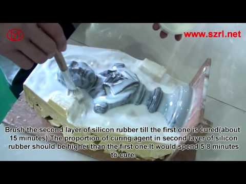 How to make resin arts and crafts male statue mold by silicone-rubber