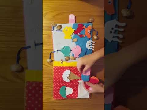 Quiet book, Libro metodo Montessori