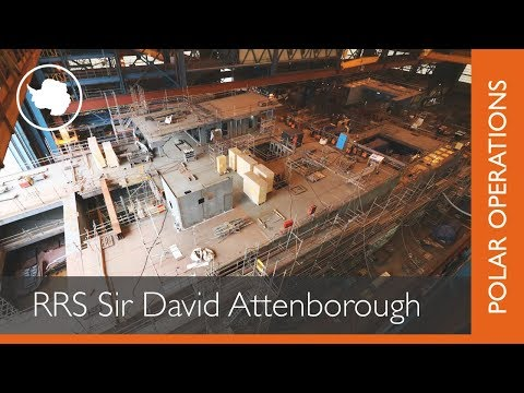 RRS Sir David Attenborough construction timelapse