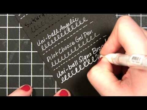 White Gel Pen Comparison Amp Review Youtube