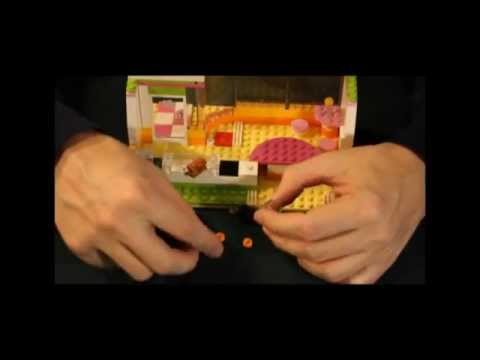 Lego Friends 41035 Heartlake Juice Bar unboxing and assembly