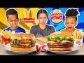 Gambar cover MCDONALDS VS BURGER KING FOOD CHALLENGE WITH THE PRINCE FAMILY!!