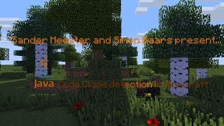 Inspecting and Improving Code Duplication in Java Projects using Minecraft