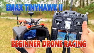 First Flight FPV Drone Racing With EMAX TINYHAWK II FREESTYLE Beginner Drone