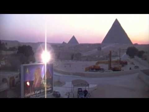 A special sunset at the Giza Pyramids