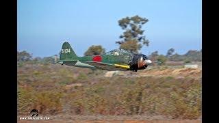 Corsair Nut's A6M Zero (Yellow Aircraft) Flight at MRCF