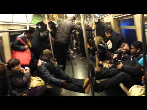 Rat Terrorizes Subway Riders
