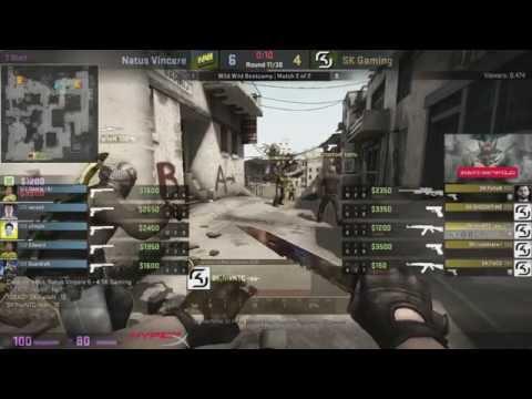 NAVi (Новый Состав) vs SK  Showmatch CS GO map2   de dust2