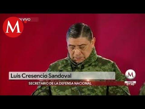 Desacato de la población informa Luis Cresencio Sandoval