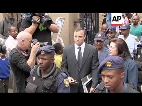Oscar Pistorius departs court after day three of resumed court hearings