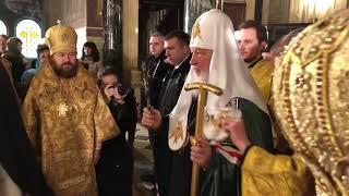 Патриарх Кирилл в Соборе Александра Невского